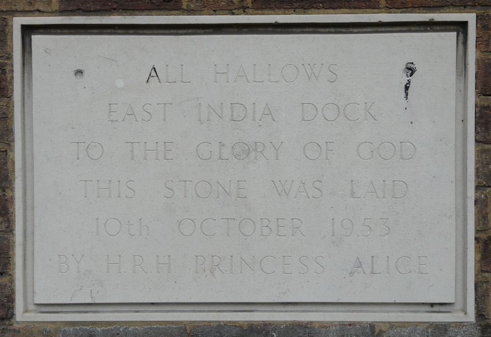 St Nicholas And All Hallows Aberfeldy Street Poplar