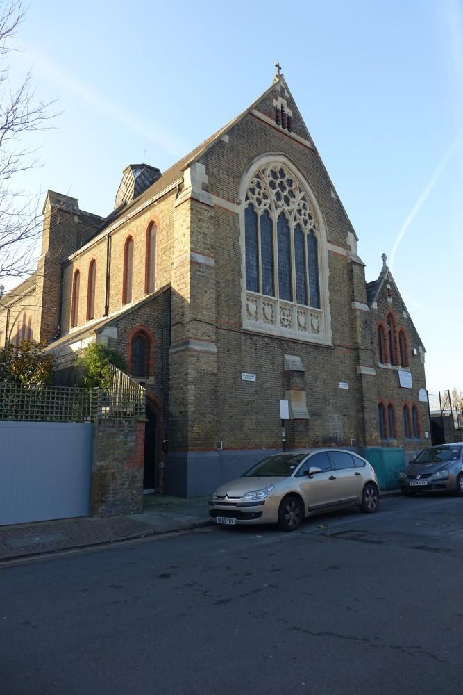 Balham London Tom Howard Gardens: St Bartholomew (Former), Wycliffe Road, Battersea Now St
